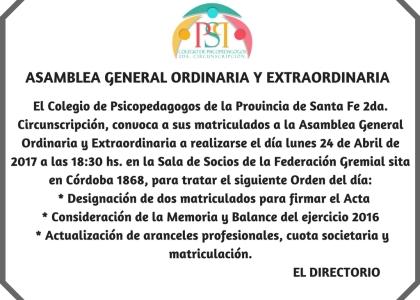 ASAMBLEA GENERAL ORDINARIA Y EXTRAORDINARIA (3)